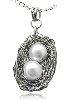 wire wrapped pearl pendant