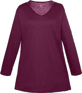 Ulla Popken Women's Plus Size Essential Swing Jersey Tunic Tee 713225
