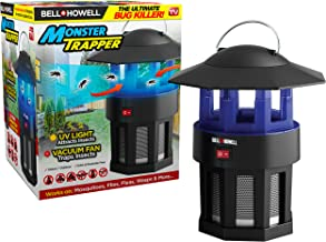 Bell+Howell Monster Trapper 1923 Vacuum-Based Trap for Bugs and Insects, No Zapping Noise, Whisper-Quiet, 100% Chemical-Free, Pest Killer As Seen On TV, 8.5