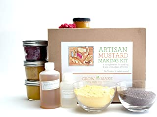 Grow and Make DIY Artisan Mustard Making Kit - Learn how to make your own gourmet mustard at home!
