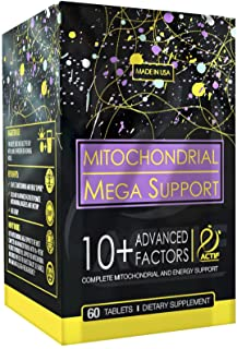 Actif Mitochondrial Mega Support with 10+ Advanced Factors - Non GMO, Fast Acting, Mitochondria and Energy Support, Made i...
