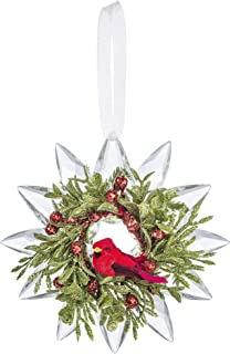 Ganz Cardinal Krystal Snowflake Decorative Ornaments