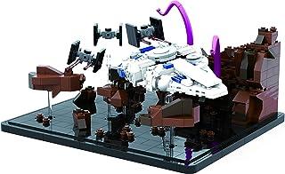Brigamo Briques de construction Chaudière Run Diorama avec faucon vaisseau spatial, 3 x T-chasseurs et monstres de tentacules