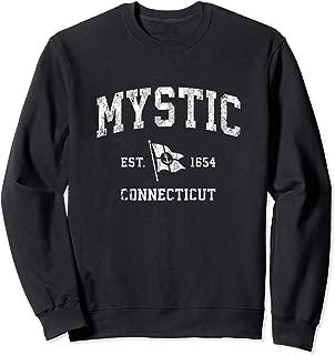 Mystic CT Vintage Nautical Boat Anchor Flag Sports Sweatshirt
