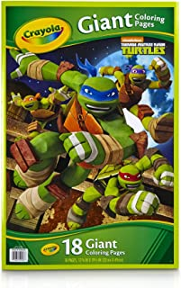 Crayola Kids Teenage Mutant Ninja Turtles TMNT Giant Poster Coloring Book