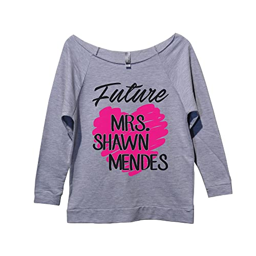 "a06f4dd74 Funny Threadz Women's Tour Concert Sweatshirt ""Future Mrs Shawn Mendes"