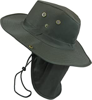 b9811f45 The Hat Jungle boonie Bucket Hat Neck Flap Tactical Wide Brim Outdoor  Military