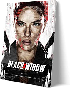 2021 Black Widow Movie Poster for Walls Painting Canvas SANTA RONA Large Home Decor Wall Art Picture Canvas Wall Xirokey (16x24