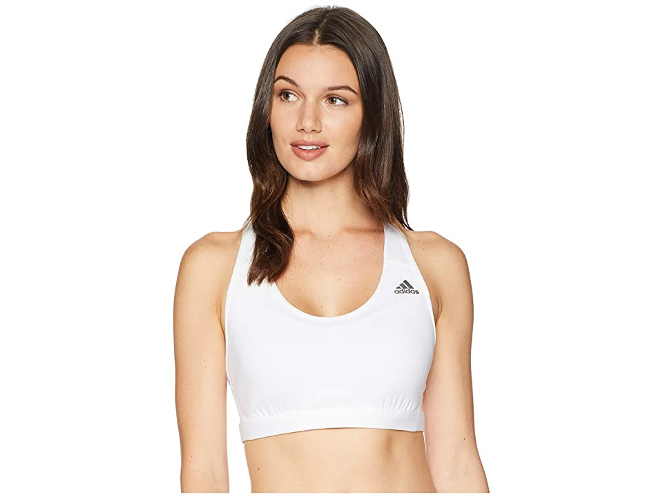 adidas Techfit Racerback Bra (White/White) Women