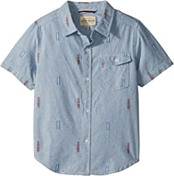 Lucky Brand Kids - Short Sleeve Chambray Shirt (Little Kids/Big Kids)