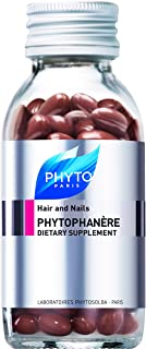 PHYTOPHANÈRE 100% Natural Dietary Supplement | Low Calorie Capsules | Promotes Longer, Fuller Thicker Hair, Healthy Hair Growth, Stronger Nails, Skin Radiance | Vitamin E, Biotin, Omega 3