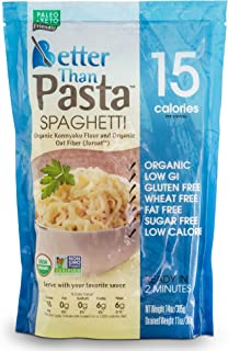 Better Than Pasta. Certified Organic. Zero Carb, Keto Friendly, Vegan, Gluten-Free, Non-GMO, Konjac Shirataki Spaghetti No...