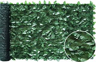 """VegasDoggy 39"""" x 118"""" Faux Ivy Privacy Fence Screen, Artificial Hedges Peach Leaf Privacy Screen with Mesh Back for Garden..."""