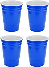 Fairly Odd Novelties 16oz Blue Cup Made Out Of Melamine 4 Pack Living It Large Drink Solo or With A Friend