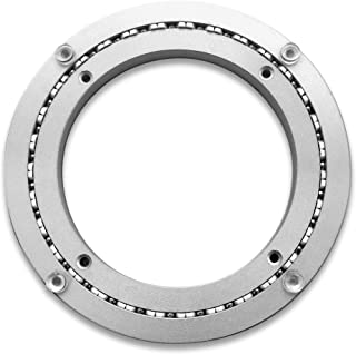 Heavy-Duty Aluminum Lazy Susan Ring/Turntable with Single-Row Ball Bearings for Heavy Loads, 8-Inch