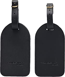 Alien Peace Leather Luggage Tags Suitcase Tag Travel Bag Labels With Privacy Cover For Men Women 2 Pack 4 Pack