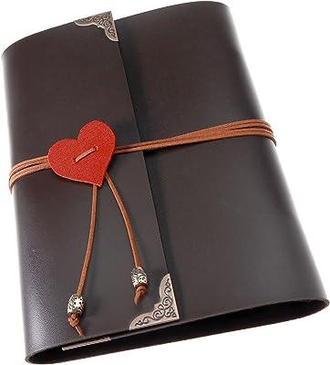 Create Idea - Álbum de fotos para manualidades, álbumes de recortes, fotos retro, libro de viaje, recuerdos, de piel vintage, álbumes de regalo, vacaciones o boda