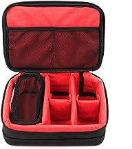 DURAGADGET Gewatteerde zwart-rood opslag/draagtas met verstelbare verdelers (camera NIET inbegrepen) - compatibel met Vtec...