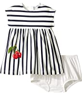 Dolce & Gabbana Kids - Stripe Cherry Dress (Infant)