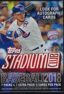 2018 Topps STADIUM CLUB Baseball Series Unopened Blaster Box with Chance for Chrome Parallels and Autographed Cards and Shohei Otani Rookie Cards Plus