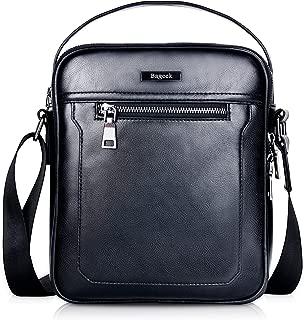 Bageek Men Crossbody Bag PU Leather Messenger Bag for Men 9