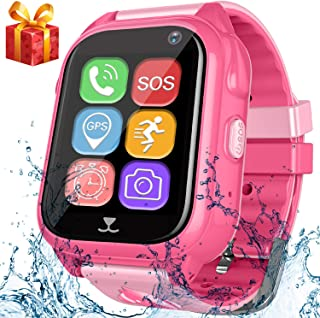Kids Smart Watch Phone with GPS Tracker Pedometer SOS Camera Sport Fitness Tracker for Boys Girls Digital Wrist Watch Bracelet Wristband Alarm Clock Waterproof IP67 for Holiday Birthday Gifts