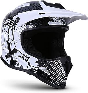 Soxon SKC-33 Kinder-Cross-Helm, ECE Schnellverschluss SlimShell Tasche, XS 51-52cm, Fusion Weiß