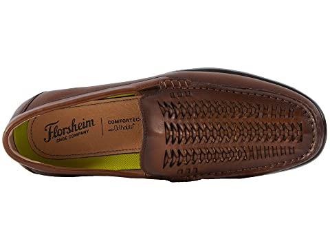Smooth Moc Woven Driver HorseCognac Draft Vamp Black Crazy SmoothBrown Toe Florsheim vwqH54B