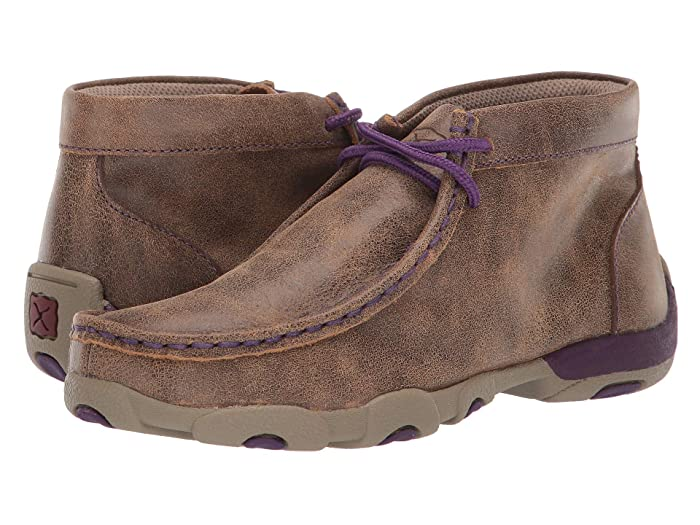 Twisted X  Driving Moc (Little Kid/Big Kid) (Bomber/Purple) Shoes