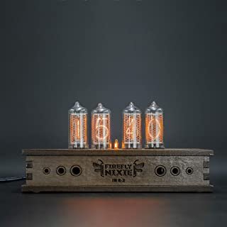 Nixie Tube Clock 4x IN-8-2 Nixie Tubes Vintage Retro Desk Clock Fully Assembled and Tested Wooden Alder Case