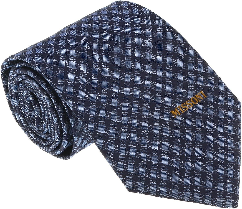 92b358234a Missoni U5566 blueee Gingham 100% 100% 100% Silk Tie for mens bac13b ...