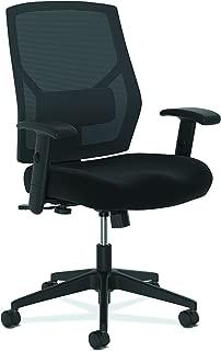 The HON Company BSXVL581ES10T HON Crio High Task Fabric Mesh Back Computer Chair for Office Desk, Black (HVL581), Swivel/Tilt