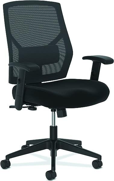 The HON Company BSXVL581ES10T Basyx By Task Chair High Back Swivel Tilt Fabric