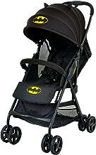 KidsEmbrace Batman Lightweight Compact Stroller, DC Comics Collapsable Stroller with Canopy, Black, 7701BATBK
