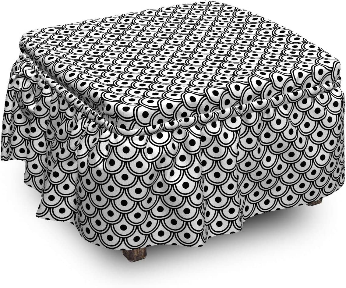 Lunarable Abstract Ottoman Cover Round Dots service 2 It is very popular Japanese Arches