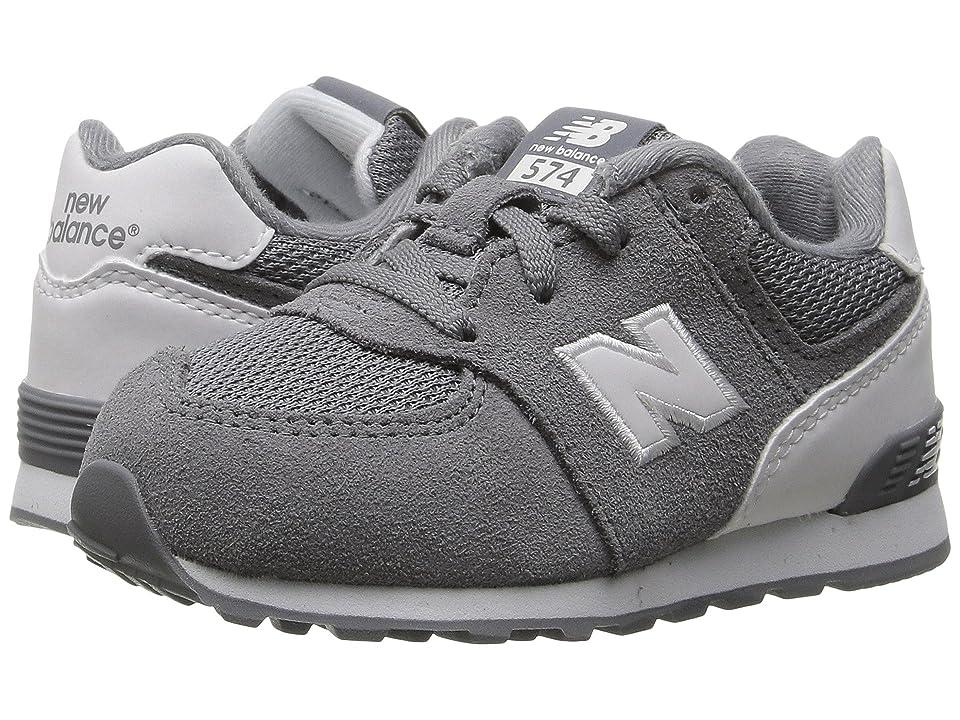 New Balance Kids KL574v1 Reflective (Infant/Toddler) (Grey/White) Boys Shoes