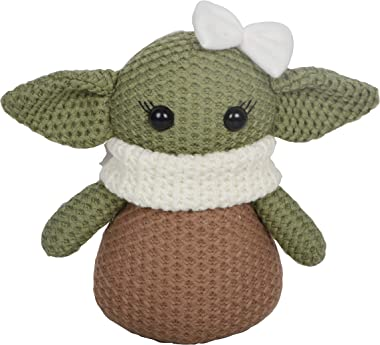 Baby Yoda 8 inch Collectable Figurines Grogu Birthday Gift Soft Fabric Toy The Child Choice Table Decoration (Girl)