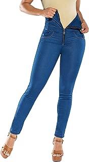 Curvify Super High Waisted Butt Lift Skinny Jeans Tummy Control - Cintura Alta