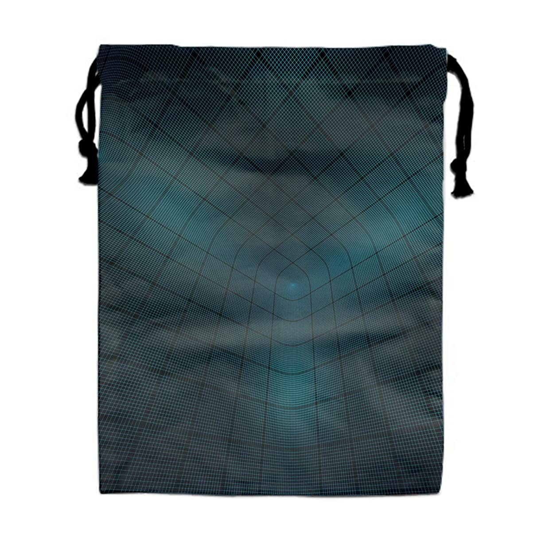 Unisex Mesh Optical Illusion Stripes Drawstring Bag Travel Bag for Men Women