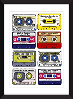 Classic 90s R&B Songs - Unframed Print/Sin Marco