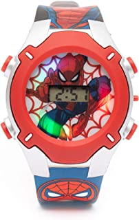 Marvel Spiderman Boys Digital Dial with Rotating Running light Wristwatch - SA7177 Spiderman-A