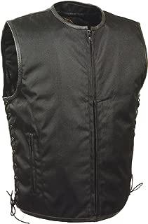 Milwaukee Performance Men's Basic Textile Vest with Leather Trims (Black, X-Large)