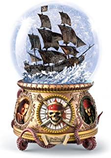 Bradford Exchange The Disney Pirates of the Caribbean Musical Glitter Globe with Black Pearl Ship