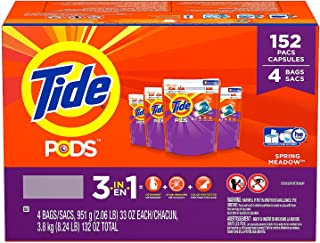 Product of Tide Pods Laundry Detergent, Spring Meadow (152 ct.) - Laundry Detergents [Bulk Savings]