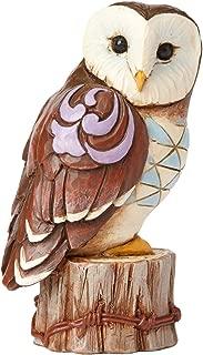 Enesco Jim Shore HWC Mini Owl On Stump Figurine