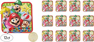 Super Mario Bros Valentine Cards With Gold Coins (For 24 Kids)