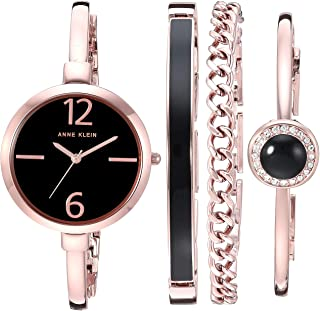 Anne Klein Women's Bangle Watch and Swarovski Crystal...