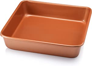 """Gotham Steel Ultra Durable Bakeware - Nonstick Copper Square Baking Tin - 9.5"""" x 9.5""""- with Quick Release Ceramic Coating,..."""