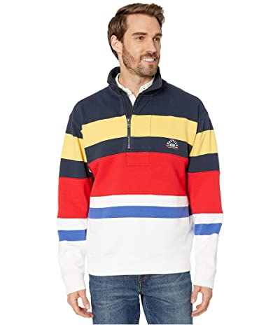 Nautica Re-Issue Stripe 1/4 Zip Sweater (Navy) Men