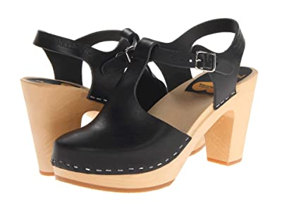 Swedish Hasbeens T-Strap Sky High (Black) Women